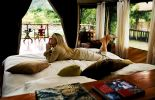 One of the tented bedrooms at Karen Blixen Camp