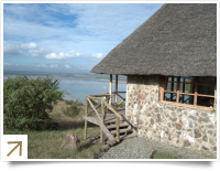 Sunbird Lodge beside Lake Elementaita
