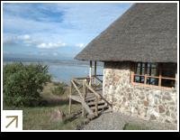 Sunbird Lodge beside Lake Elementaita